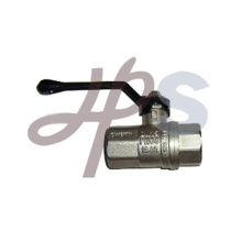 Aluminum handle brass ball valveHB05